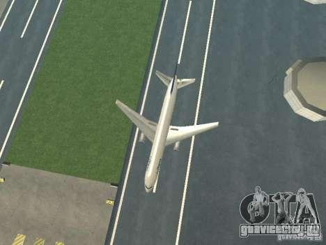 Boeing 767-300 Lufthansa для GTA San Andreas вид сзади