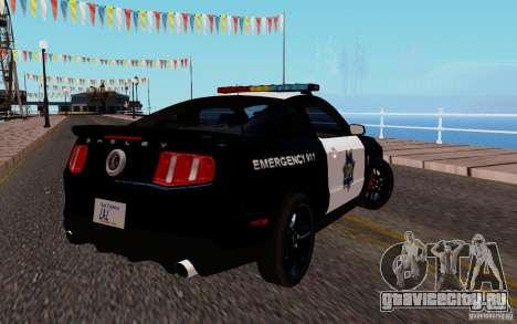 Ford Shelby Mustang GT500 Civilians Cop Cars для GTA San Andreas вид справа