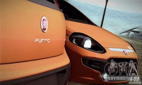 Fiat Punto Evo 2010 Edit для GTA San Andreas вид сзади