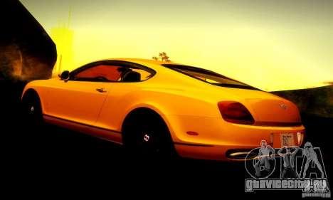 Bentley Continental Supersports для GTA San Andreas двигатель