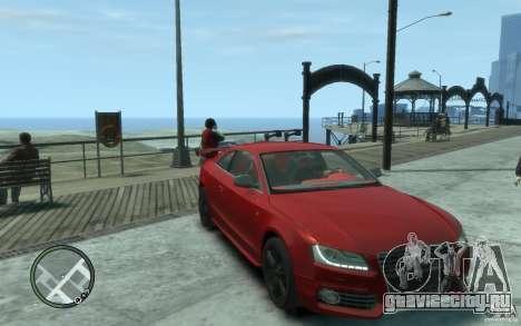 Audi S5 v2 для GTA 4 вид сзади