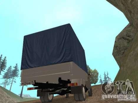 ГАЗ 3302 2001г.в. для GTA San Andreas вид изнутри