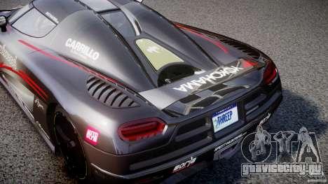 Koenigsegg Agera v1.0 [EPM] для GTA 4 вид изнутри
