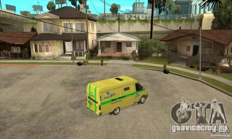 ГАЗель инкассаторская для GTA San Andreas вид справа