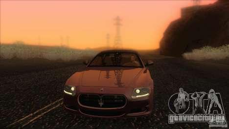 Maserati Quattroporte Sport GT V1.0 для GTA San Andreas салон