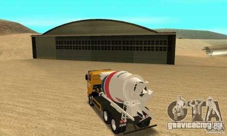 Камаз 53215 Tai Liebherr v1.1 для GTA San Andreas вид слева
