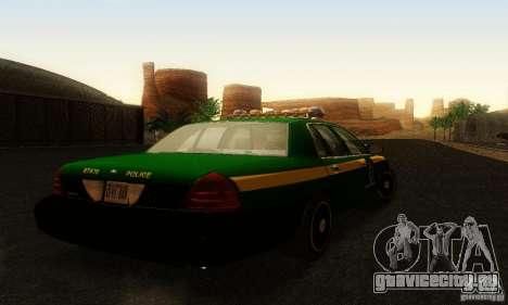 Ford Crown Victoria Vermont Police для GTA San Andreas вид слева