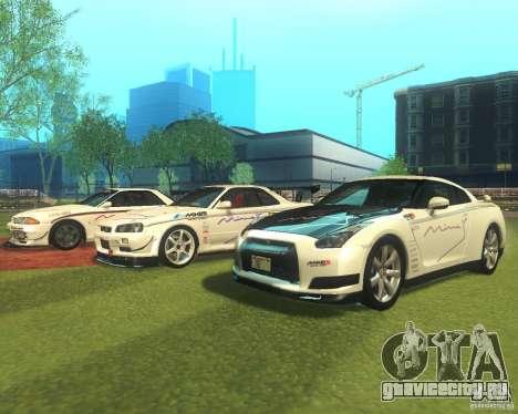 Nissan GTR R35 Spec-V 2010 Stock Wheels для GTA San Andreas