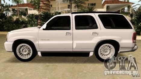 Cadillac Escalade для GTA Vice City вид изнутри