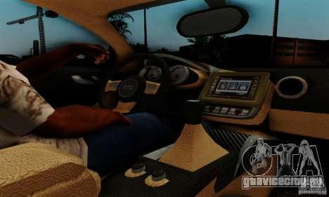 Audi R8 LeMans для GTA San Andreas вид сзади