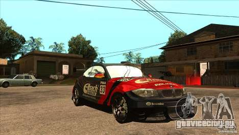 BMW 135i Coupe GP Edition Skin 2 для GTA San Andreas вид сзади