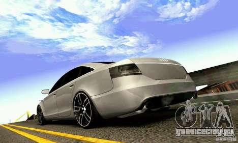 Audi A6 Blackstar для GTA San Andreas вид сверху