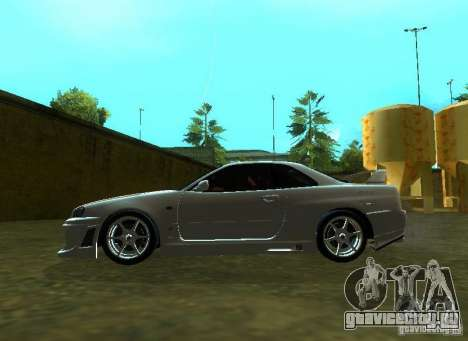 Nissan Skyline GTR-34 для GTA San Andreas вид сзади