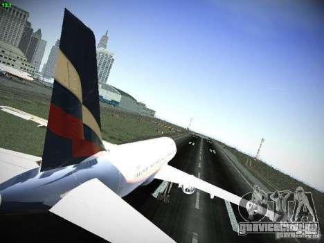 Airbus A320 АэроФлот Российские Авиалинии для GTA San Andreas вид справа