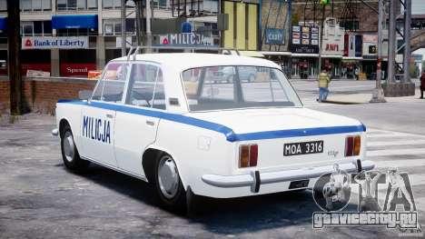 Fiat 125p Polski Milicja для GTA 4 вид сзади слева