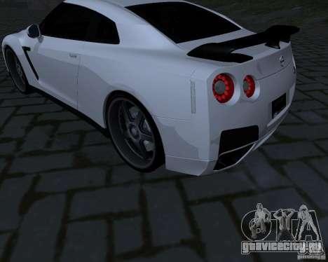 Nissan GTR-35 Spec-V для GTA San Andreas вид сзади
