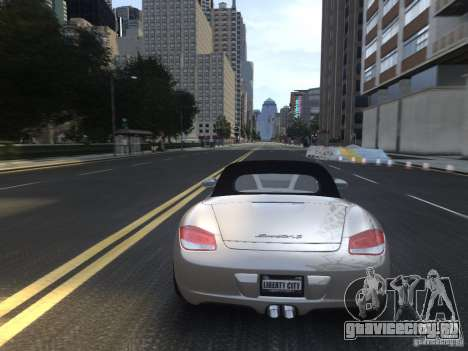 Porsche Boxster S 2010 EPM для GTA 4 вид сверху