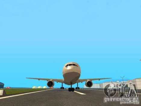 Boeing 767-300 Lufthansa для GTA San Andreas вид изнутри