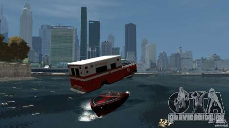 Ambulance boat для GTA 4 вид сзади