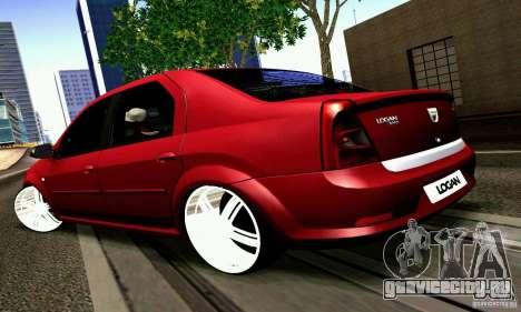 Dacia Logan 2008 для GTA San Andreas вид слева