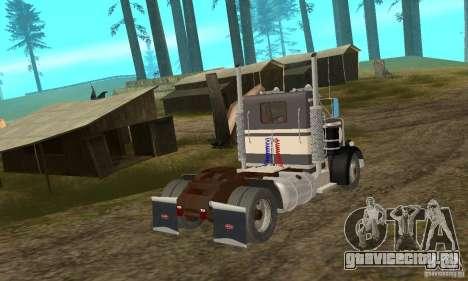 Peterbilt 289 для GTA San Andreas вид сзади слева