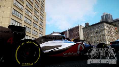 McLaren MP4-27 для GTA 4 вид слева