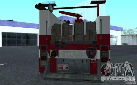 FIRETRUCK для GTA San Andreas вид справа