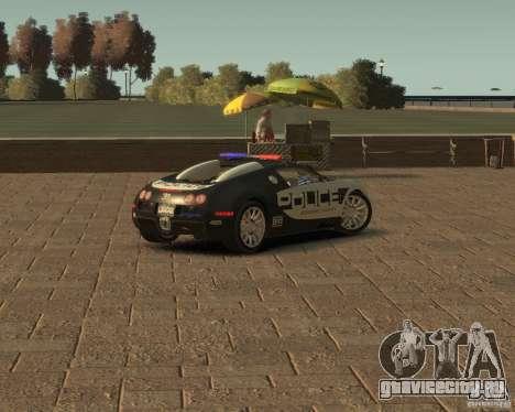 Bugatti Veyron Police [EPM] для GTA 4 вид сзади слева