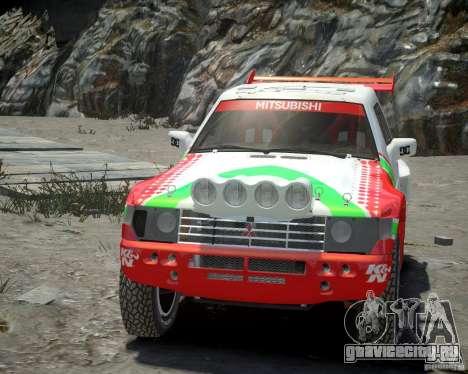 Mitsubishi Pajero Proto Dakar EK86 Винил 2 для GTA 4 вид изнутри