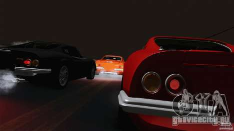 Ferrari 246 Dino GTS для GTA San Andreas вид изнутри