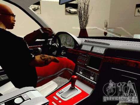 BMW 740i Tuned For Drift для GTA San Andreas вид сзади