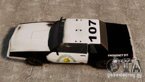 Полицейская раскраска для ржавого Sabre для GTA 4 вид справа