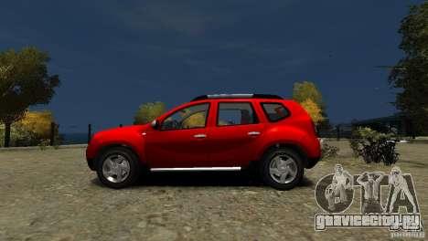 Dacia Duster SUV 4x4 2010 для GTA 4 вид слева