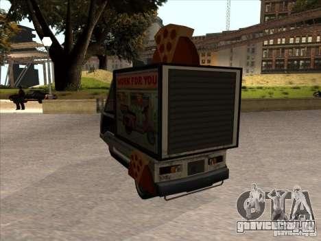 Sweeper Pizza Boy для GTA San Andreas вид сзади слева