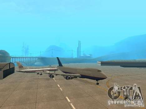 Boeing 747-100 United Airlines для GTA San Andreas вид слева