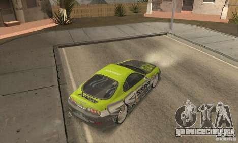 Toyota Supra Tunable 2 для GTA San Andreas вид сбоку