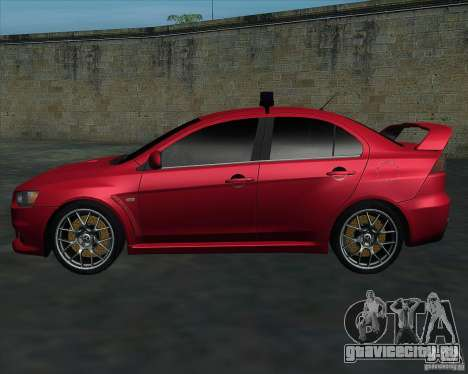 Mitsubishi Lancer Evolution X MR1 v2.0 для GTA San Andreas вид слева