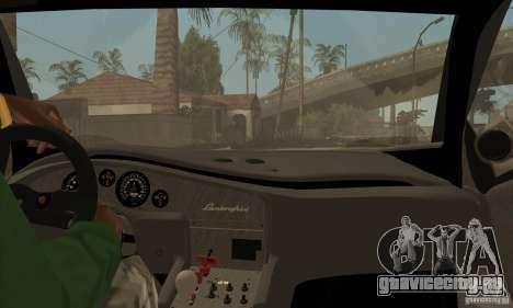 Lamborghini Diablo GT-R для GTA San Andreas вид изнутри