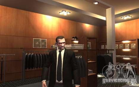 Открытые пиджаки с галстуками для GTA 4 шестой скриншот