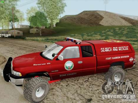 Dodge Ram 3500 Search & Rescue для GTA San Andreas вид снизу