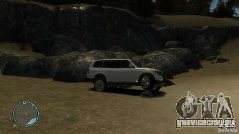 Mitsubishi Pajero Wagon для GTA 4 вид сзади