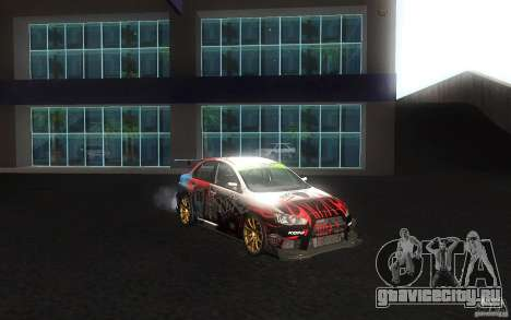 Mitsubishi Lancer Evolution X Gymkhana для GTA San Andreas вид сбоку