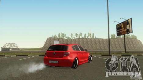 BMW 120i для GTA San Andreas вид сзади слева