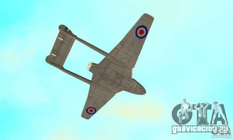 De-Havilland-Vampire ver 2.0 для GTA San Andreas вид сбоку
