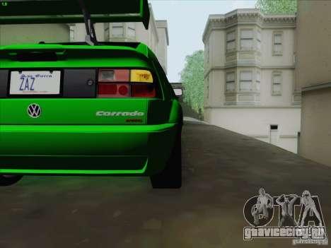 Volkswagen Corrado 1995 для GTA San Andreas вид изнутри