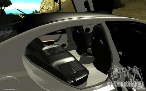Honda Civic Type R для GTA San Andreas вид изнутри