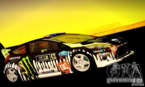 Ford Fiesta Gymkhana 4 для GTA San Andreas вид сзади слева