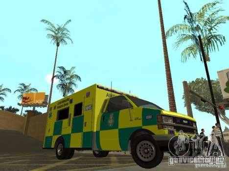 London Ambulance для GTA San Andreas вид слева