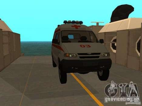 УАЗ Симба Скорая помощь для GTA San Andreas вид справа