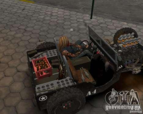 Willys Hot-Rod для GTA 4 вид сзади слева
